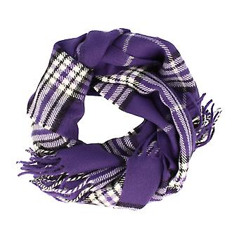 Frederic Thomass scarf Herrenschal grotesque Plaid purple checkered 170 x 30 cm