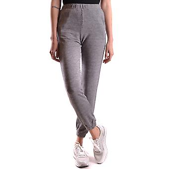 Twin-set ladies MCBI302045O grey viscose joggers