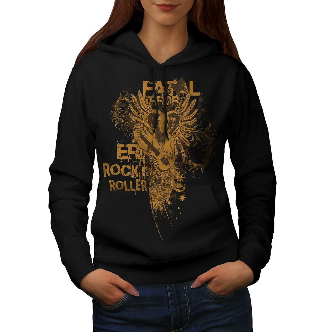 Fatal Error Rock Music Women Black Hoodie | Wellcoda