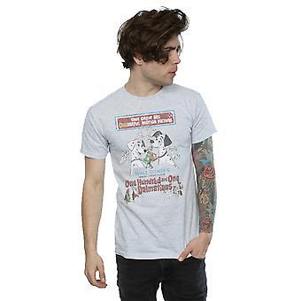 Disney Men's 101 Dalmatians Retro Poster T-Shirt