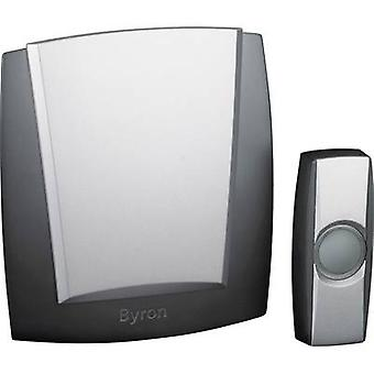 Wireless door bell Complete set backlit, with nameplate Byron BY503ZE