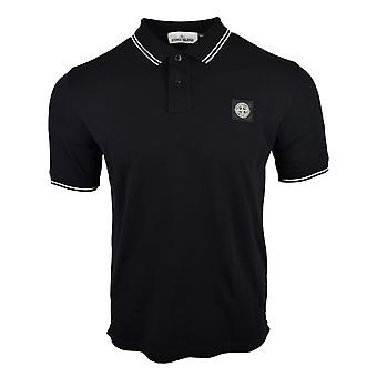 Stone Island SS18 Classic Slim Fit Black Polo Shirt