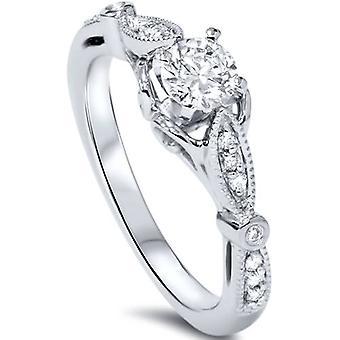 5 / 8ct Diamond Vintage förlovningsring 950 Platinum