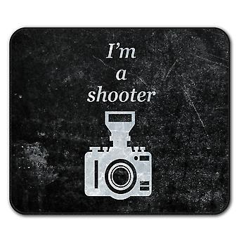 Photographer Cool Funny  Non-Slip Mouse Mat Pad 24cm x 20cm | Wellcoda