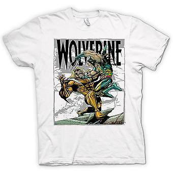 Womens T-shirt - Wolverine vs Victor - Cartoon
