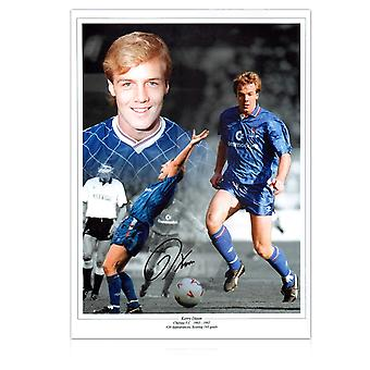 Kerry Dixon ondertekend Chelsea Photo