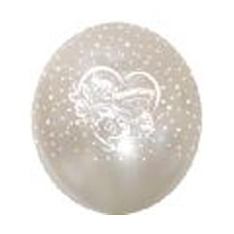 Balloner 'Tillykke med JUBILÆET' hvid 12