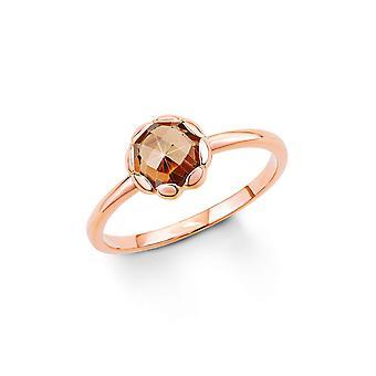 s.Oliver Mesdames argent zircon cubique anneau Rosé or SO1294