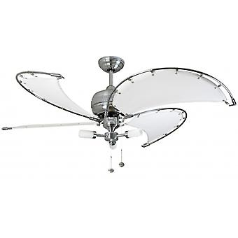Ceiling Fan Spinnaker white with lighting 132 cm / 52