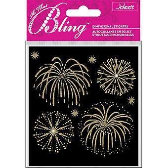 Jolee's Bling Stickers-Fireworks Gold
