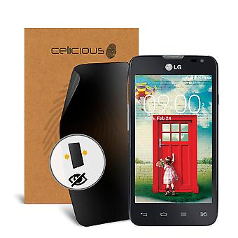 Celicious Privacy 2-Way Anti-Spy Filter Screen Protector Film Compatible with LG L65