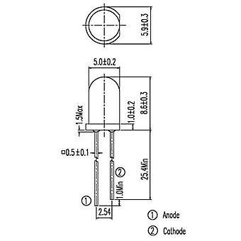 IR emitter 940 nm 20 ° 5 mm Radial lead