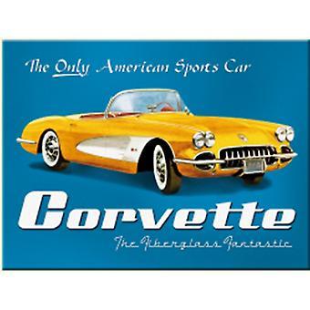 Chevrolet Corvette America'S Only... Steel Fridge Magnet