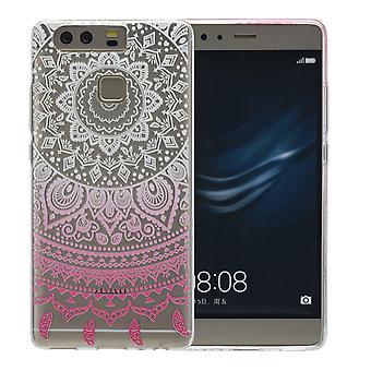 Cubierta de la henna para Huawei disfrutar 6 silicona Funda protector el sol blanco