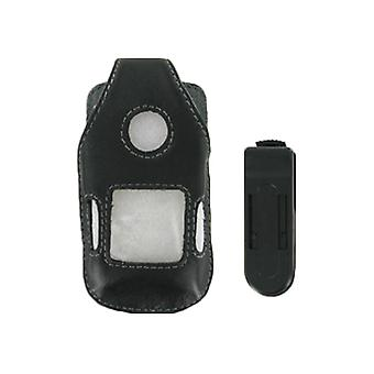 Wireless Solutions Belt Clip Leather Case for Sony Ericsson Z710, W710 (Black)
