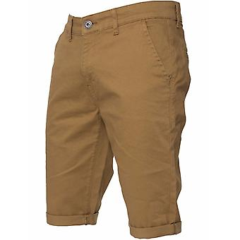 Mens Tan Casual Chino Shorts | Enzo Designer Menswear