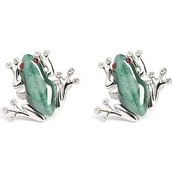 Simon Carter Darwin Frog Cufflinks - Green