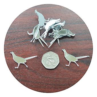 Pheasant Craft Sized Acrylic Mirrors (10Pk)