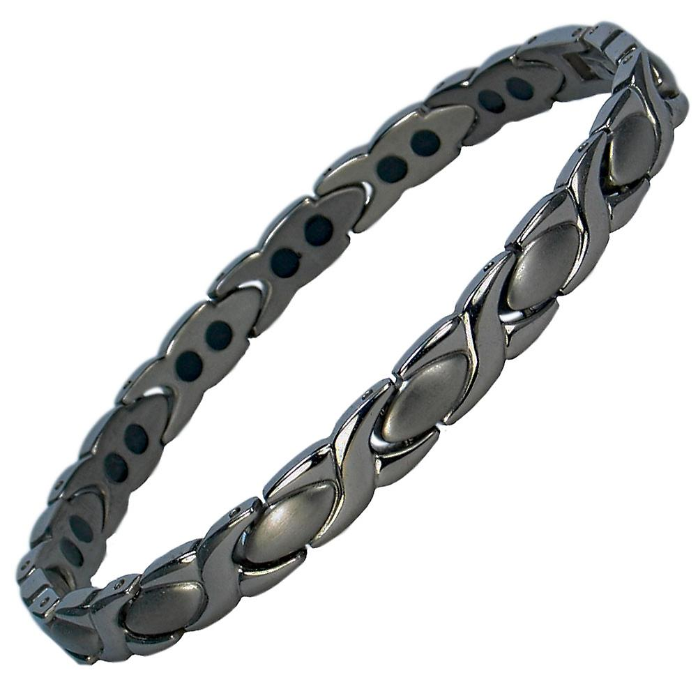 MPS® ALIOTH Deep Shade of Grey Titanium Magnetic Bracelet + Links Removal Tool