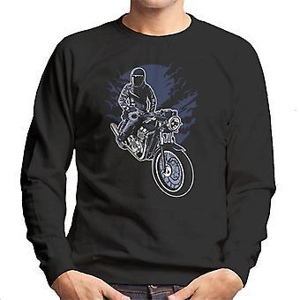 Natt Rider Motocycle Rider herrarnas Sweatshirt