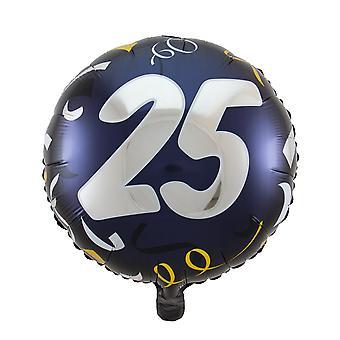 Folie ballong bursdagen 25 stor dag omtrent 45 cm