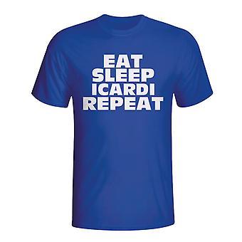 Spise sove Icardi gjenta T-shirt (blå)