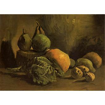 Still life with Vegetables and Fruit, Vincent Van Gogh, 32(5), x43cm