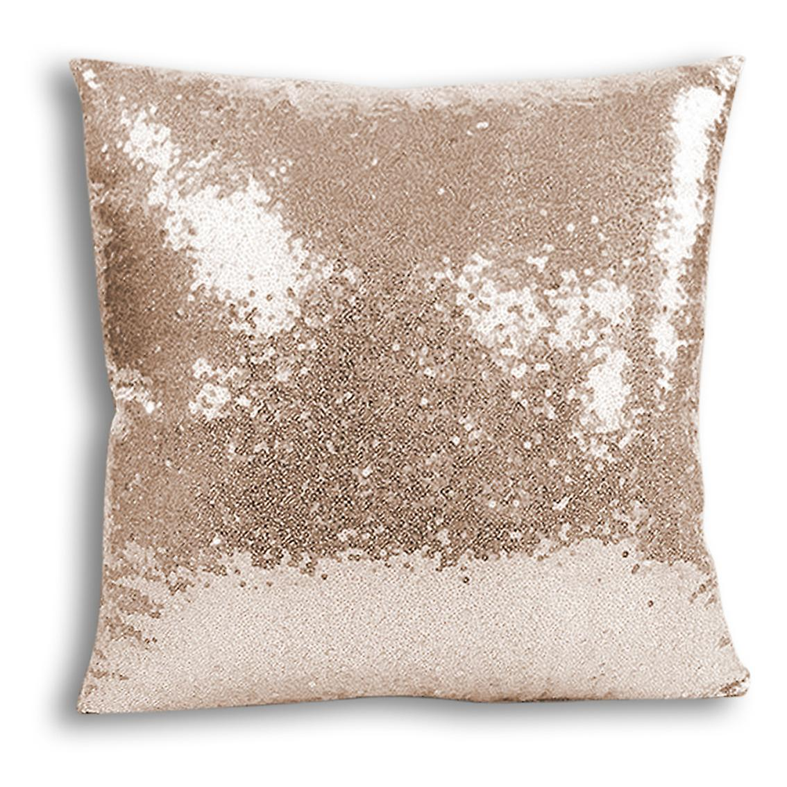 Cover Decor For tronixsUnicorn Printed I 14 Home CushionPillow Design Champagne With Inserted Sequin yY76vmIfbg