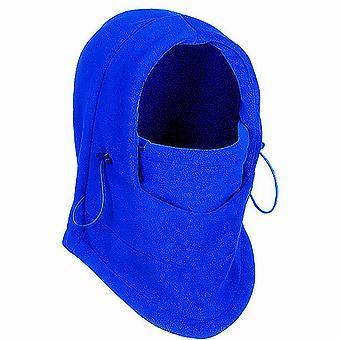TRIXES Unisex Half Face Fleece Balaclava Hood – Blue