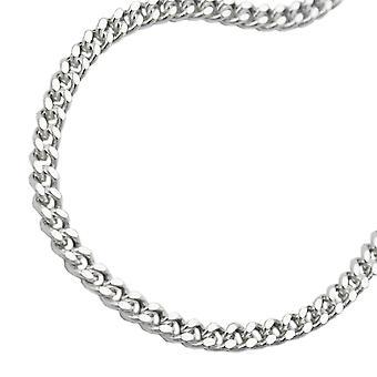 Cadena 2, plana plata 925 acera de 8mm de la cadena de 70 cm