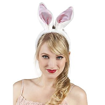 Womens roze & witte Bunny oren Fancy Dress accessoire