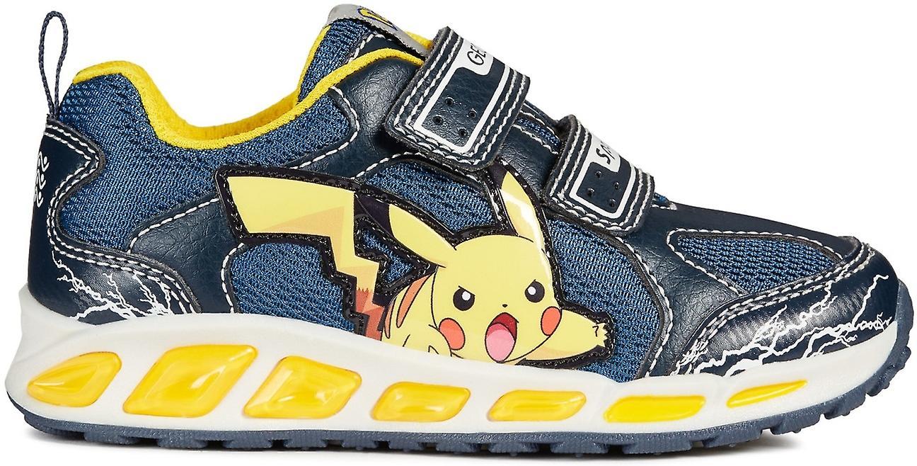 Geox garçons Shuttle Pokemon lumières formateurs marine jaune