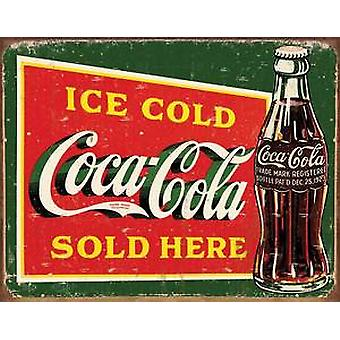 Coca Cola Ice Cold steel fridge magnet (pers)