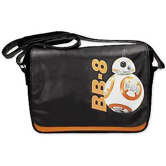 Star Wars Episode 7 Kuriertasche BB-8 Astrodroide schwarz, bedruckt, aus PVC, mit verstellbarem Tragegurt.