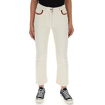Etro White Cotton Jeans