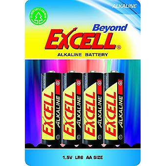 4-pack AA Batteries , LR6 Excell Beyond Alkaline Battery