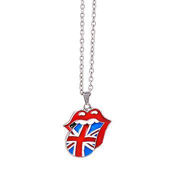 Rolling Stones Union Jack język Metal naszyjnik (ro)