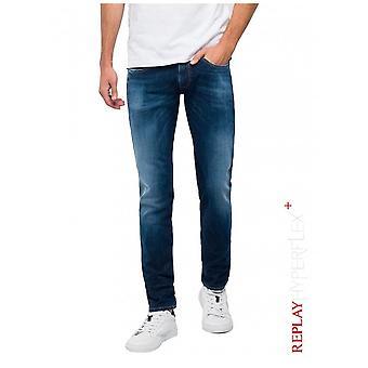 Replay Jeans Slim Fit Hyperflex + Anbass Jeans-Dark Blue