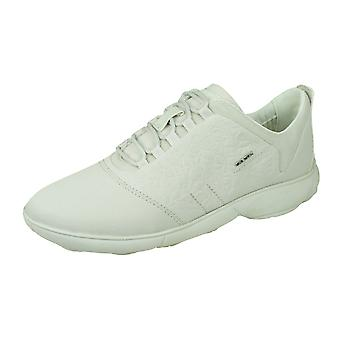 Geox D Nebula A Womens Lace Up Trainers / Shoes - Off White