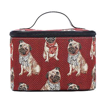 Pug makeup bag by signare tapestry / toil-pug