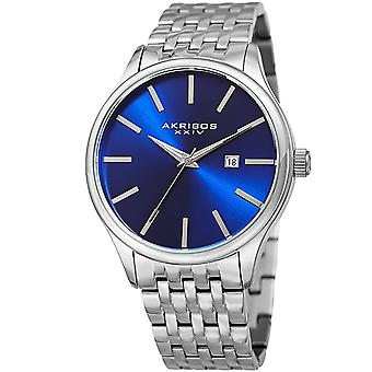 Akribos XXIV Men's AK941 Sunburst Dial Luminous Hands Date Stainless Steel Braclet Watch AK941SSBU