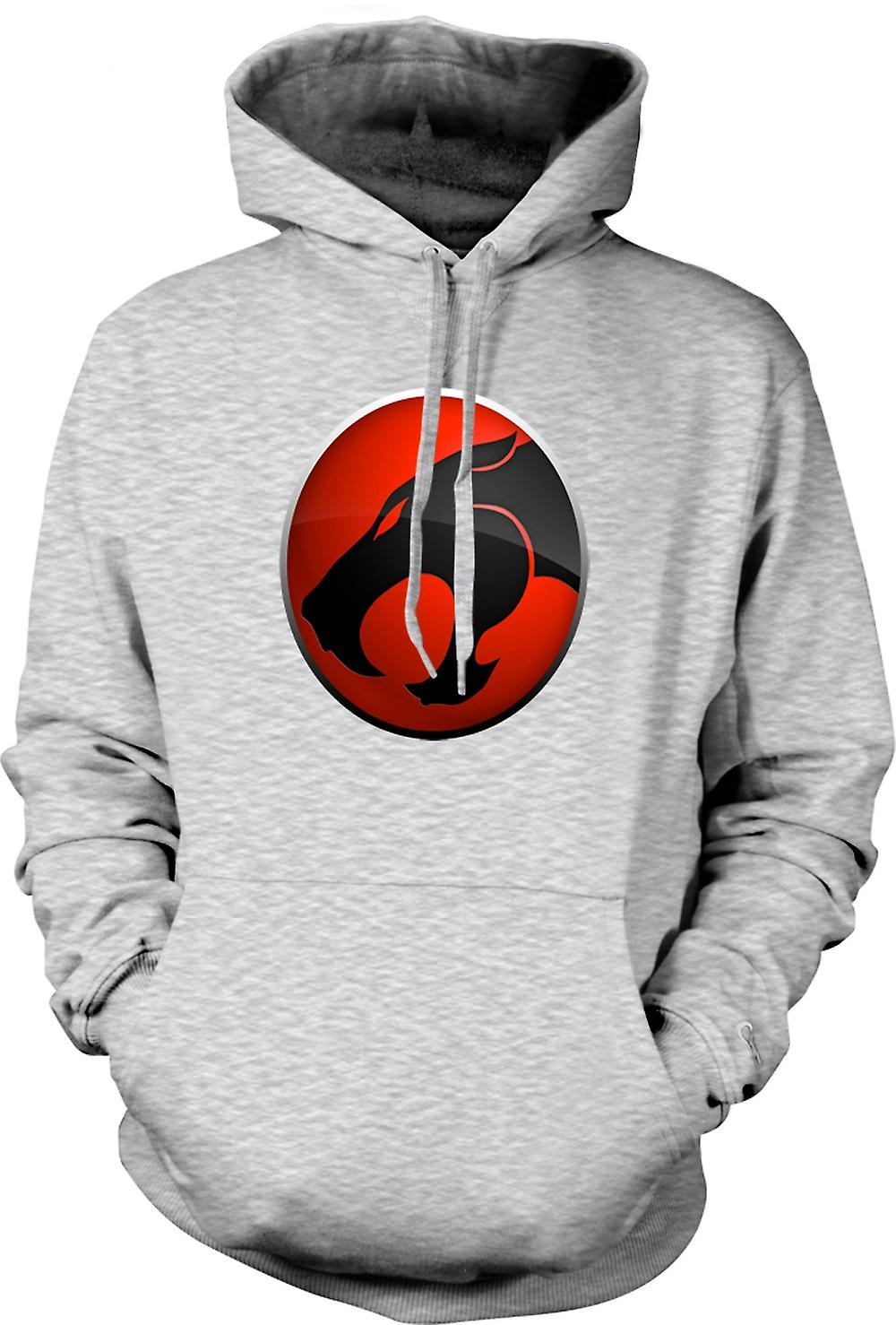Mens Hoodie - Thundercats Red / Black Logo