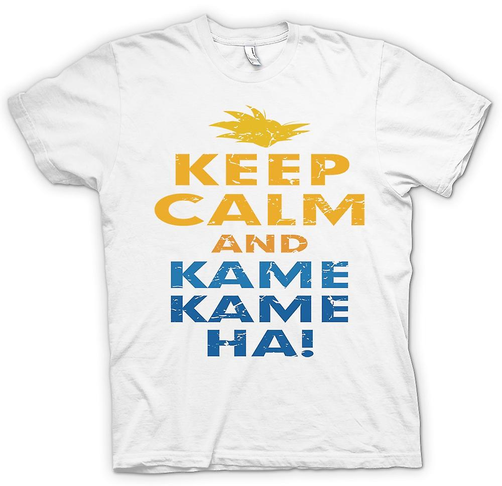 Womens T-shirt - Keep Calm And Kame Kame Ha - Dragonball Inspired