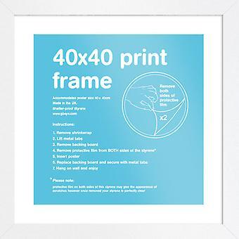 Eton cornice bianca 40x40cm Poster / stampa Frame