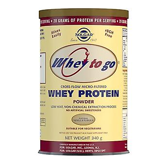 Solgar Whey To Go Protein Powder Natural Vanilla Flavour 340g (3667)
