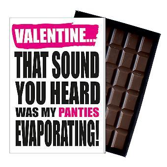 Funny Valentine? s dag gåva en oförskämd stygg närvarande för män 85G choklad kort IYF127