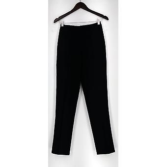 Isaac Mizrahi en direct! Pantalon 24/7 Stretch Straight Black A266247
