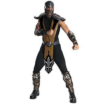 Scorpion Deluxe Mortal Kombat Ninja vechten video game volwassen mens kostuum STD