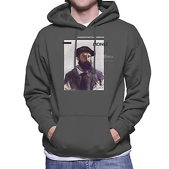 A.P.O.H Monet Paint The Way Birds Sing Quote Men's Hooded Sweatshirt