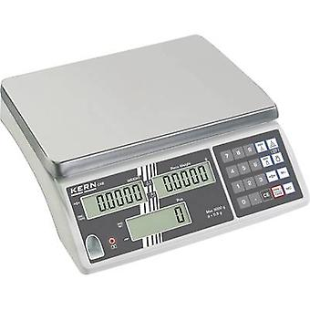 Kern Counting scales Weight range 30 kg Readability 2 g mains-powered, rechargeable Silver